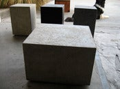 Image of Concrete Block End Table