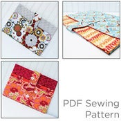 Image of PDF Sewing Pattern--Padded Laptop Sleeve with Pocket--Email Delivery
