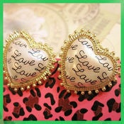 Image of Love heart studs