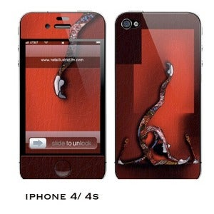 Image of iphone 4/4s skin - &quot;Red RG&quot;