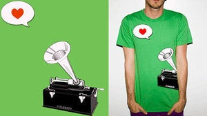 Image of Green Phonograph Tee