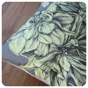 Image of Dahlia Cushion | Spring Yellow