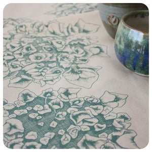 Image of Tea-towel | Hyndrangea: Duck Egg Blue