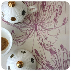 Image of Tea-towel | Agapanthus: Heather