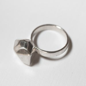 Image of large rock ring - silver