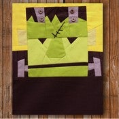 "Image of Carl Frankenstein 8"" x 10"" Quilt Block Pattern PDF"