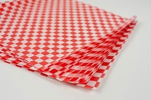 Image of Waxed Paper-Red and White Check