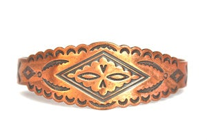 Image of Vintage Copper Tribal Cuff Bracelet