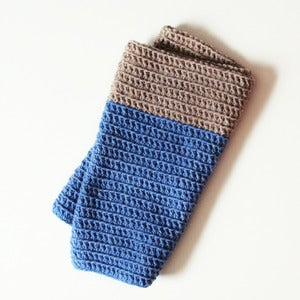 Image of Cozy Cowl in Cornflower and Oatmeal