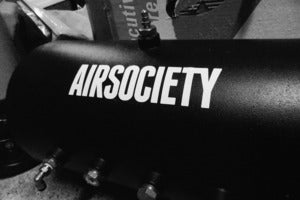 Image of White Vinyl Die-Cut &quot;AIRSOCIETY&quot; Decal