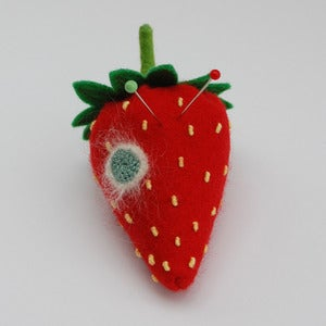 Image of Mouldy strawberry emery pincushion