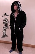 Image of You're Hooked Black Onesie