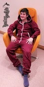 Image of You're Hooked Berry Onesie