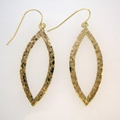 Image of Hand Forged Gold Dangle Earrings