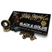 Image of BLACK & GOLDS HIGH PERFORMANCE SKATEBOARD BEARINGS