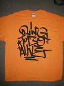 Image of DYING TO BE ALIVE T SHIRT GRAFF STYLE ORANGE