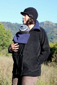 Image of Cali Calo Stella Babywearing Jacket - Black/Ink