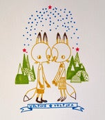 Image of &quot;Volpino &amp; Volpina&quot; Gocco print