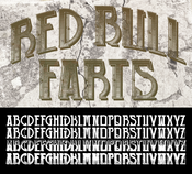 Image of RED BULL FARTS CUSTOM FONT
