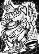 Image of Make Tea Not War - Lino Print