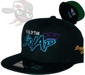 "Image of The ""King of the Snap"" Aqua/Purple Snapback Hat Cap Royal Swag Edition by Joe Rocken"