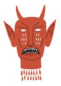 Image of Devil's Head - A3 Risograph Print