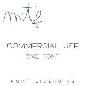 Image of Commercial Use :: One Font