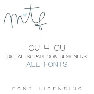 Image of Digital Scrapbook Designers :: CU4CU All Fonts