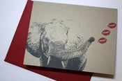 Image of Elephant Kiss note cards