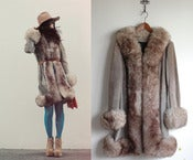 Image of vintage grey fur princess coat