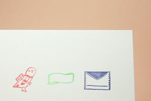 Image of Small Object Mail Correspondence Rubber Stamp Set