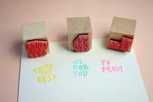 Image of Small Object Gift Giving Rubber Stamp Set