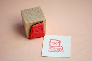 Image of Small Object The Computer Chum Rubber Stamp