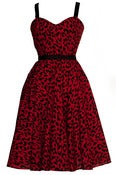 Image of Plus size Vintage Style Red Leopard Print Dress