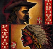 Image of TERRORIST and PATRIOT diptych
