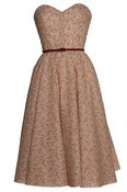 Image of £10 OFF! Beige Vintage Inspired 50s Style Ditsy Print Dress