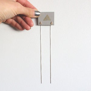Image of Golden Triangle Threaded Studs