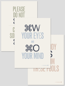Image of Commands Print Set