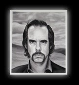 Image of Nick Cave Portrait Print by Brenda Flatmo