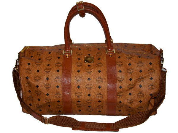 Image of Rare Vintage MCM Small Duffel Bag designed by founder Michael Cromer