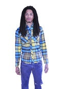 Image of Mens Vintage Vibrant Plaid Button-Up