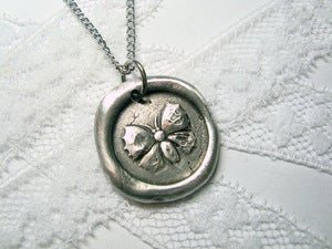 Image of Butterfly/Moth wax seal necklace By Ritzy Misfit