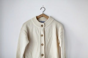 Image of 1980/90s cream Guernsey cardigan {SOLD}