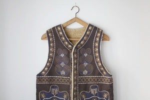 Image of 1970s fleece lined waistcoat {SOLD}