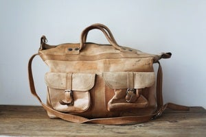 Image of 1970s tan leather weekend bag {SOLD}