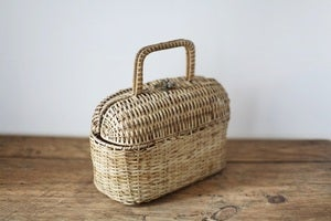 Image of 1950s little basket bag