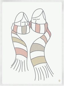 Image of Scarf Sharing Print