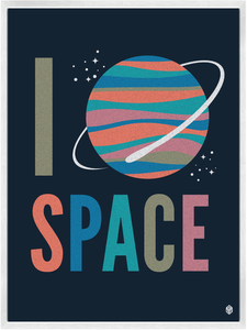 Image of I Heart Space Print