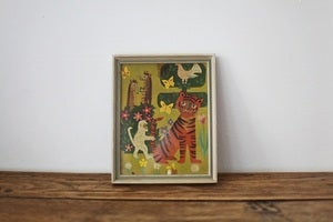 Image of 1960s small childrens framed print {SOLD}