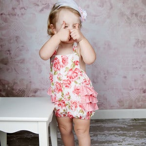 Image of Girls Ruffled Sunsuit Romper Pattern, 2-6 years - PDF Sewing Pattern